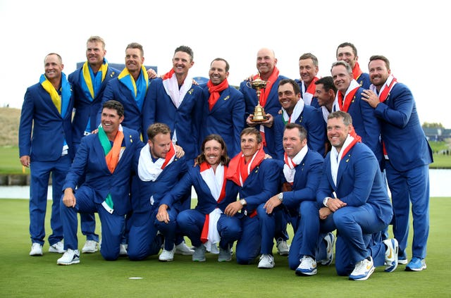 Team Europe won the 2018 Ryder Cup (Adam Davy/PA)