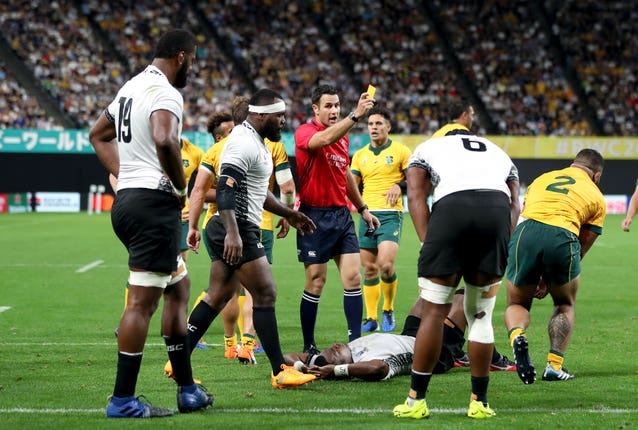 The referees gave come under scrutiny early in the World Cup