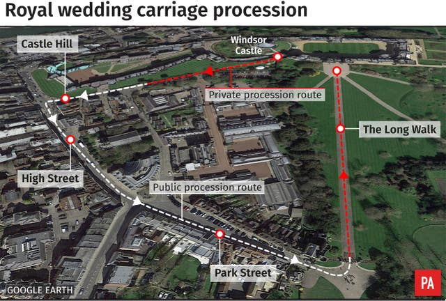 Royal wedding carriage procession