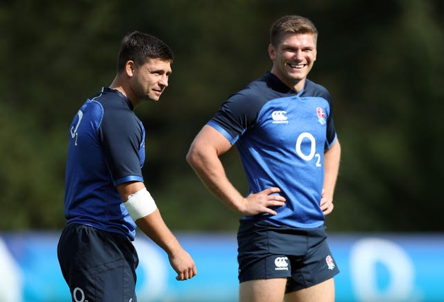 Owen Farrell (right) and Ben Youngs are veteran half-backs