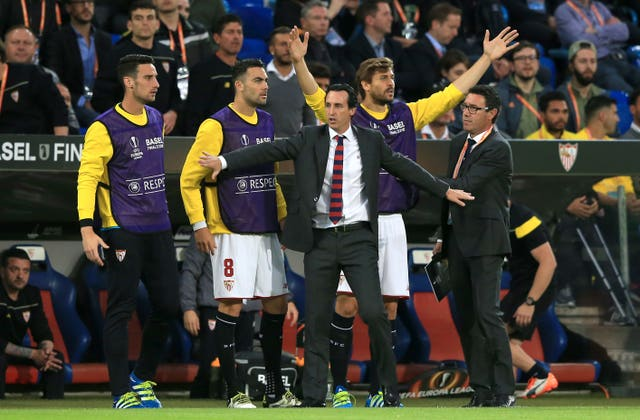 Unai Emery led Sevilla to Europa League glory at the expense of Liverpool in the 2016 final