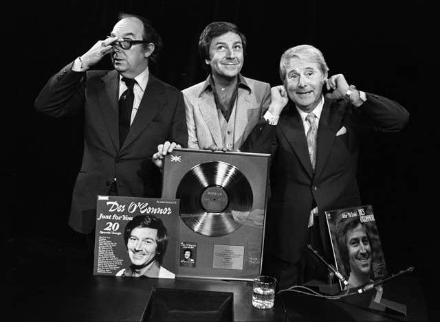 Des O'Connor with Eric Morecambe and Ernie Wise