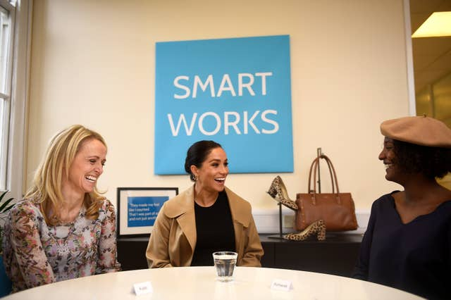 The Duchess of Sussex during a visit to Smart Works in London