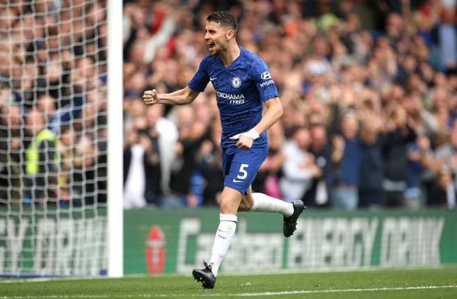 Jorginho opened the scoring for Chelsea against Brighton