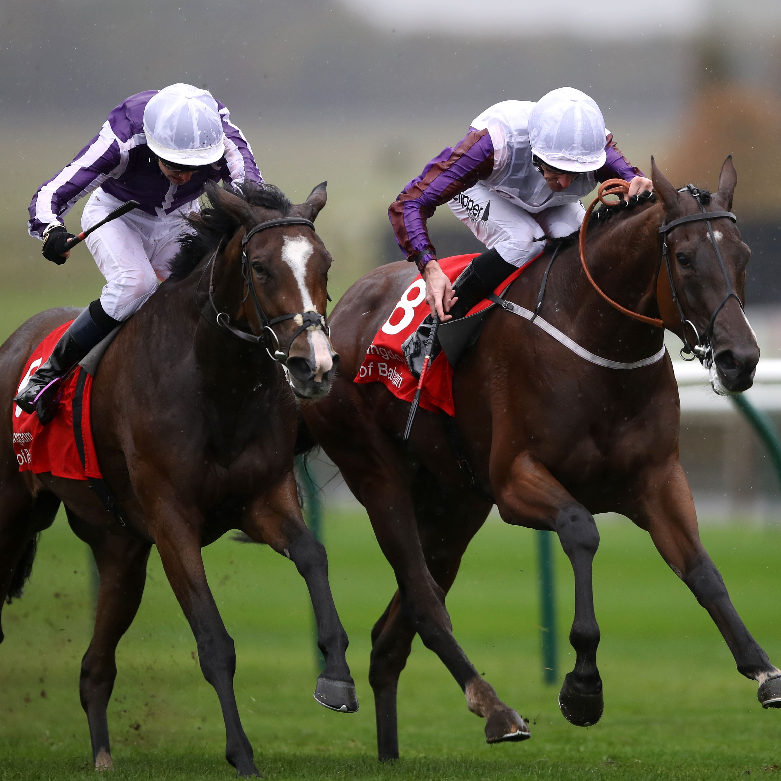 Laurens (right) winning the Sun Chariot