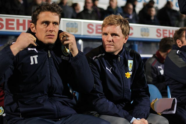 Tindall was also Howe's assistant at Burnley
