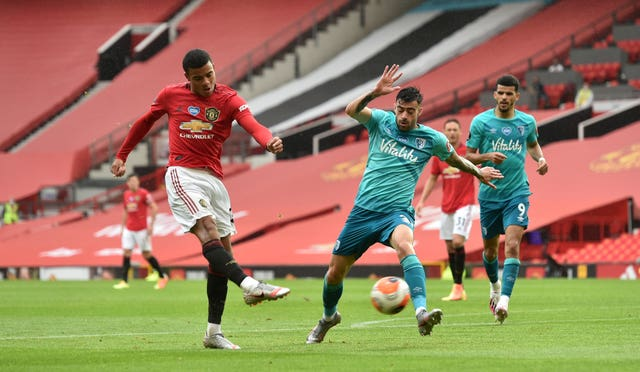 Mason Greenwood improved his goal tally to 15 with his brace against Bournemouth