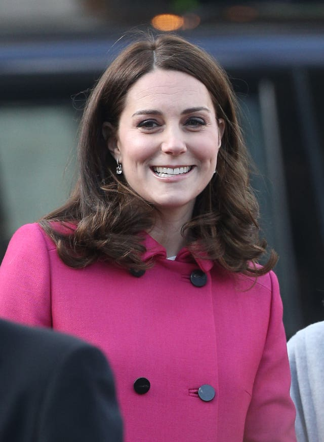 The Duchess of Cambridge is all smiles