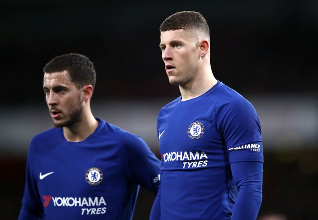 Ross Barkley, right, wants to play with Eden Hazard for a long time to come