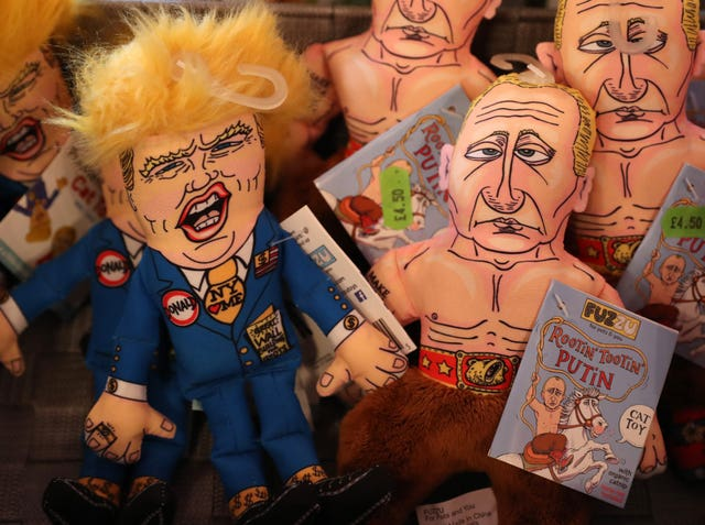 Donald Trump and Vladamir Putin cat toys