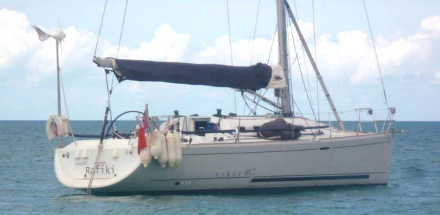 The Cheeki Rafiki, which capsized in the mid-Atlantic (Royal Yachting Association/PA)