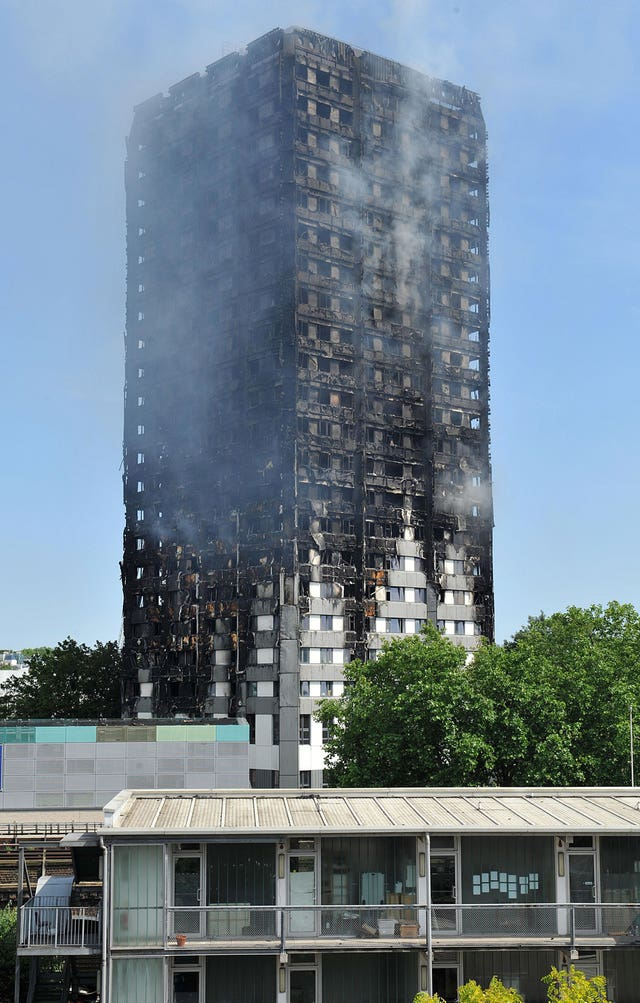 Grenfell Tower in west London (Nick Ansell/PA)