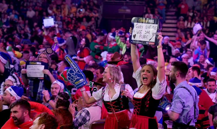 Fans at the PDC World Darts Championship will not be able to sing or wear fancy dress