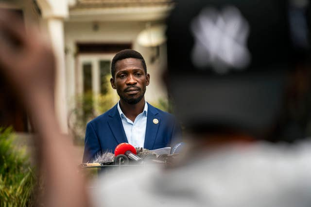 Uganda's leading opposition challenger Bobi Wine (Jerome Delay/AP)