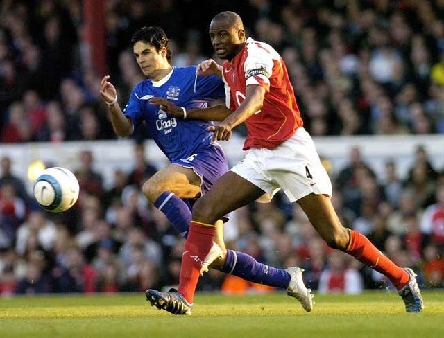 Arteta and Vieira rarely met on the pitch as players.