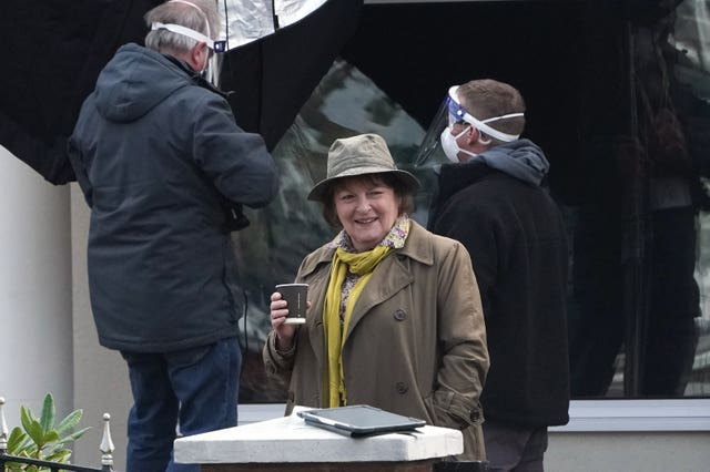 Brenda Blethyn filming the new series of Vera