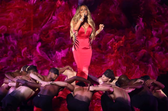 Mariah Carey performs With You at the AMAs
