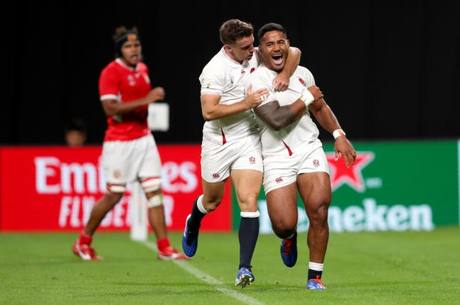 Sunday also saw England kick off their campaign, with Manu Tuilagi touching down twice in a 35-3 victory over Tonga