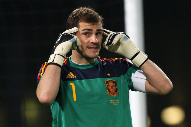 Iker Casillas won 167 caps for Spain