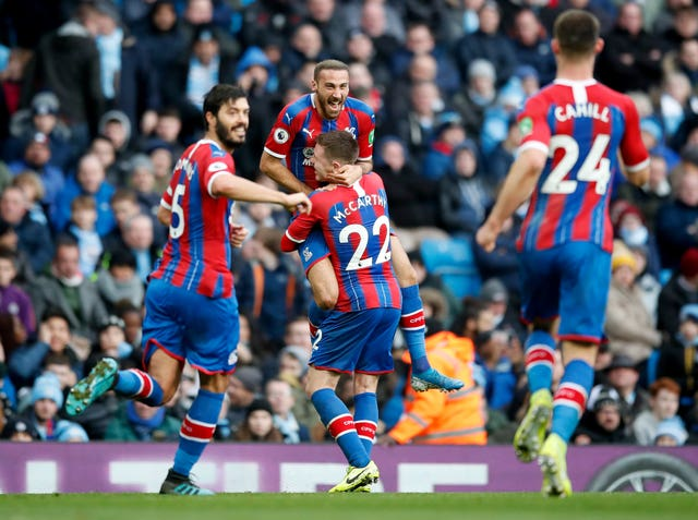 Cenk Tosun gave Crystal Palace an early lead against Manchester City