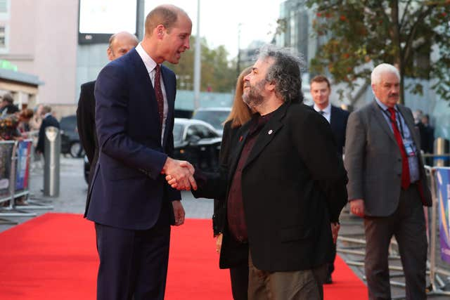 The Duke of Cambridge and Peter Jackson