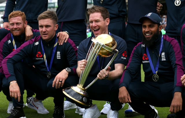 Eoin Morgan led England to a historic 50-over World Cup crown last summer (Steven Paston/PA)