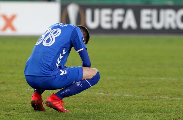Rangers' Europa League run came to an end after failing to win in Vienna