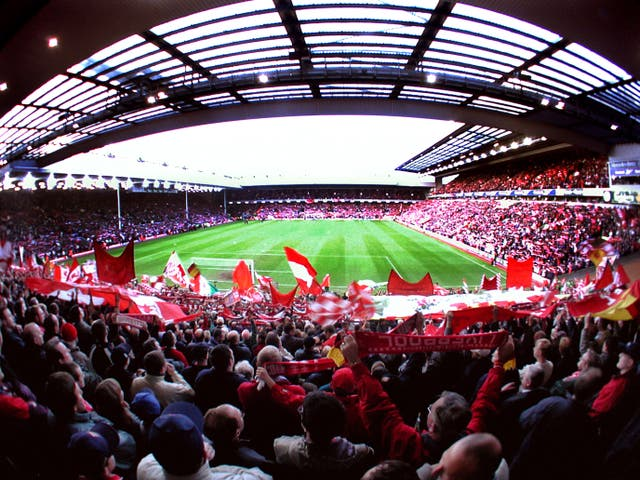 Anfield was packed to the rafters for the second leg of the UEFA Cup semi-final against Barcelona