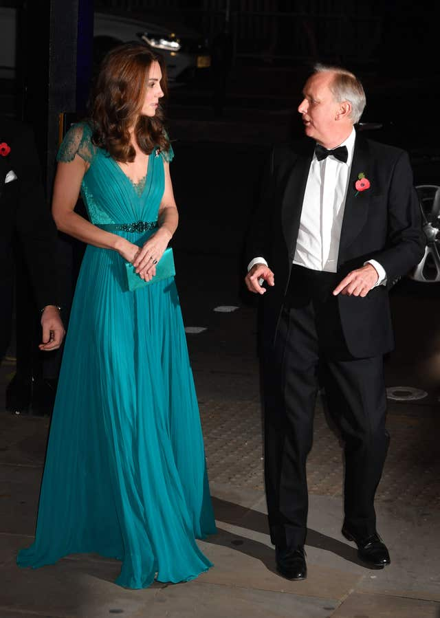 The Duchess of Cambridge with Tusk chief executive Charles Mayhew