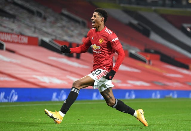 Marcus Rashford has scored 14 goals in 28 games in all competitions this season (Michael Regan/PA)