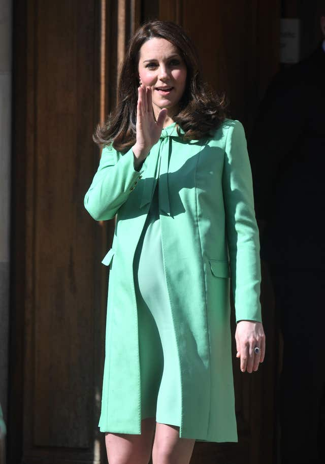 The Duchess of Cambridge leaves after attending symposium on early intervention at the Royal Society of Medicine in London (Victoria Jones/PA)