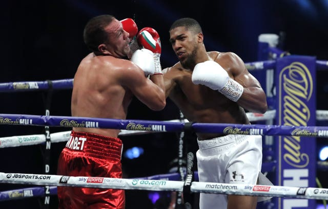 Anthony Joshua had plenty of joy with his uppercut in his world heavyweight title fight with Kubrat Pulev