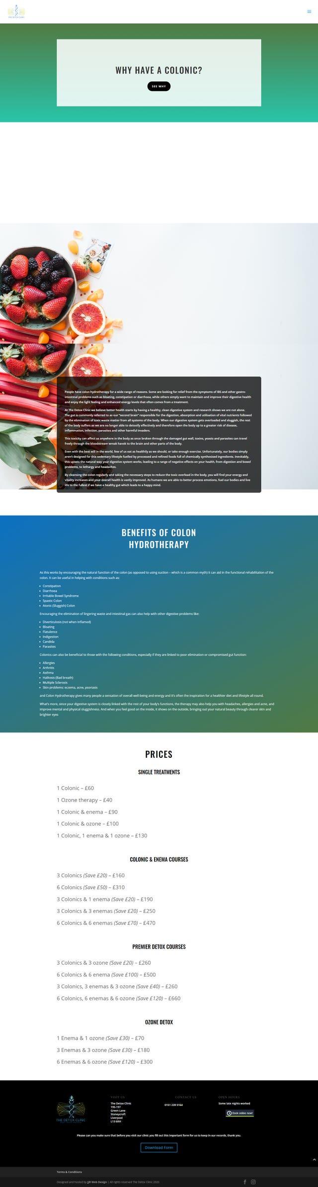 Detox Clinic website