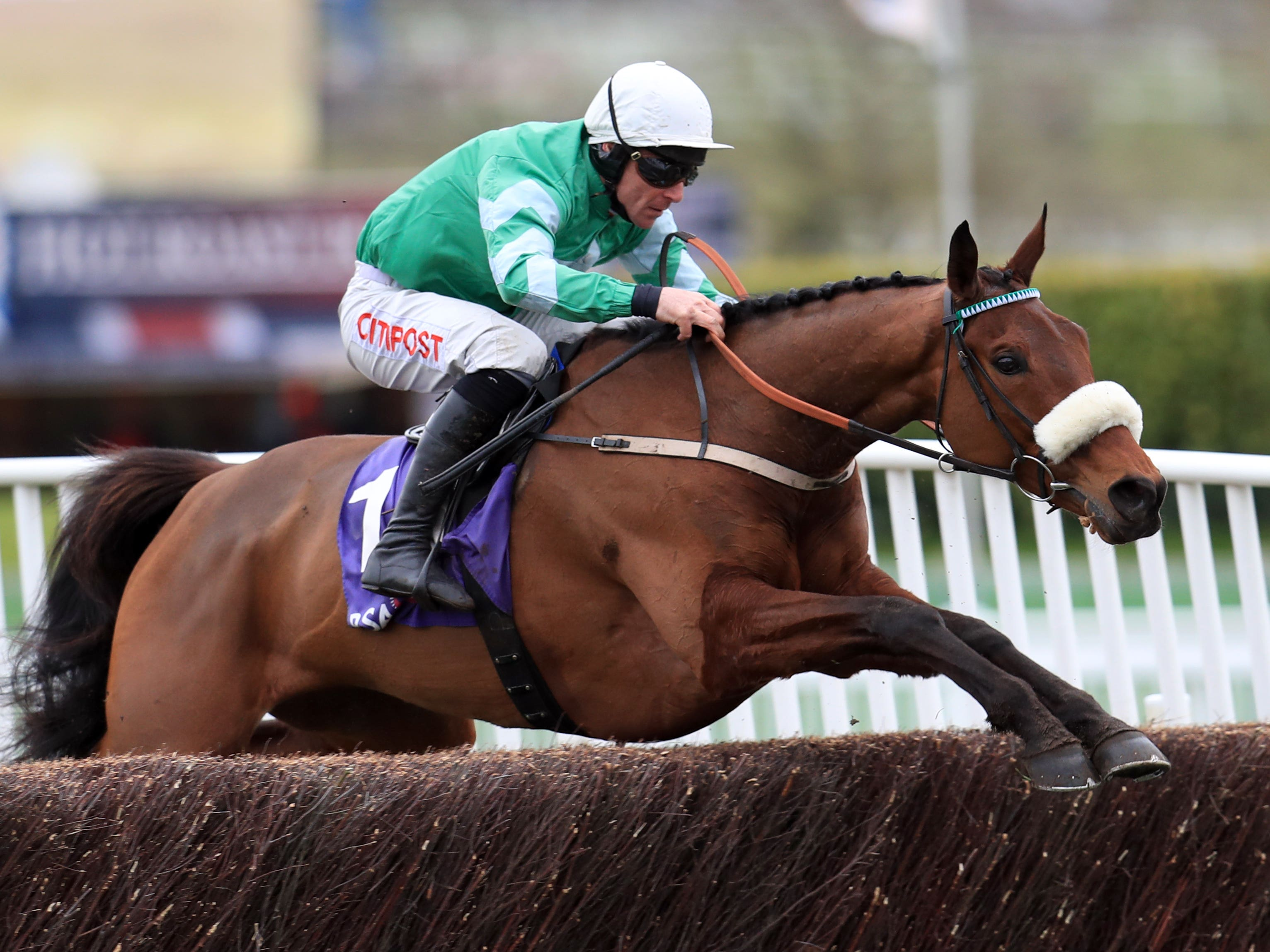 Presenting Percy on his way to winning last year's RSA Chase (Mike Egerton/PA)