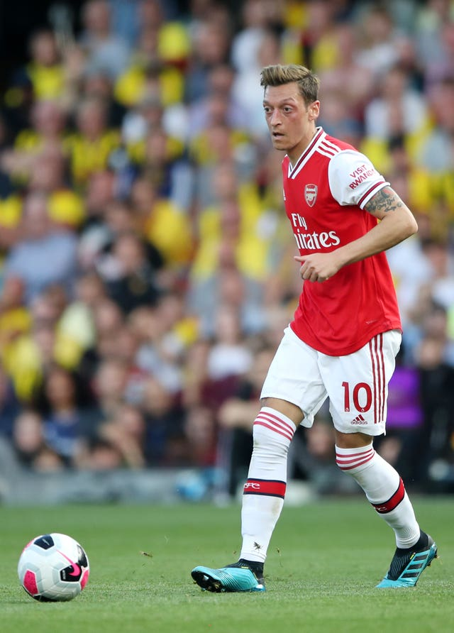 Mesut Ozil has been left at home by Arsenal