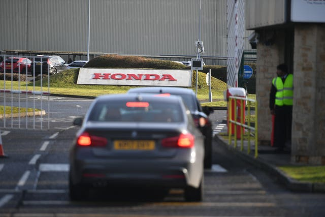 A general view of the Honda plant in Swindon