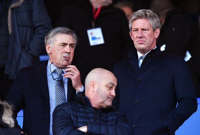 Everton's director of football Marcel Brands (right) has to work closely with manager Carlo Ancelotti to get the club's transfer strategy back on track