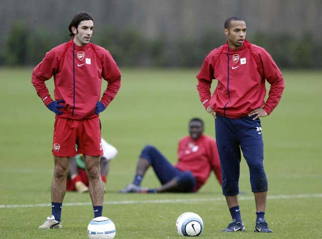 Henry and Pires won two Premier League titles as team-mates at Arsenal.