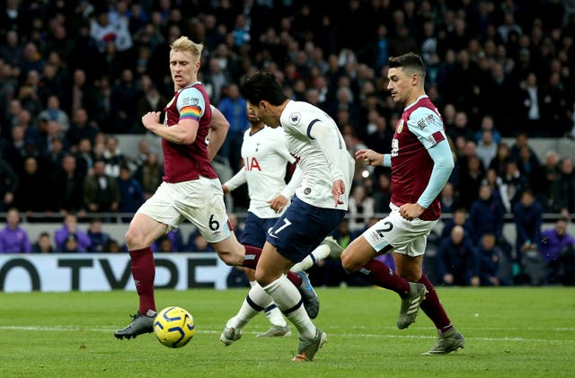 Tottenham's Son Heung-min ran the length of the pitch to score a wonder goal in the 5-0 win over Burnley