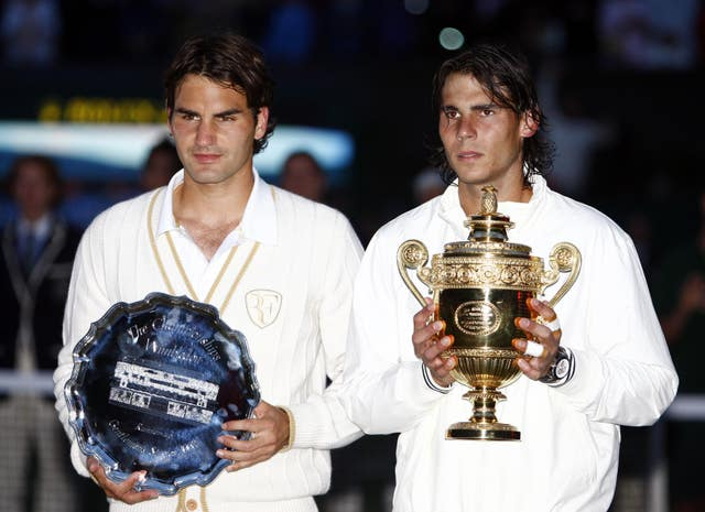 Roger Federer tasted defeat in the final for the first time to Rafael Nadal in 2008