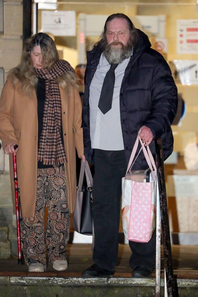 Lynda and Wayne Rickard outside Reading Crown Court