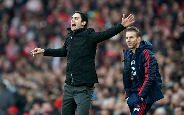 Albert Stuivenberg, right, is on Arsenal's and Wales' coaching staff and will help manage the team in Ryan Giggs' absence