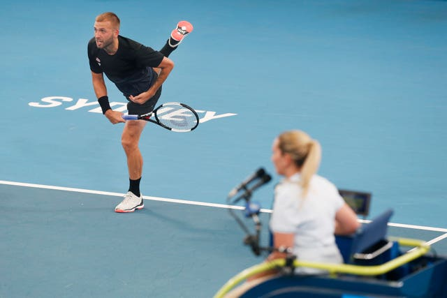 Dan Evans could not keep Britain in the competition