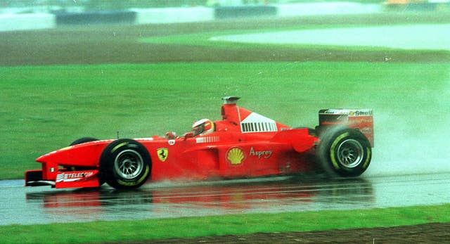 GP Silverstone Schumacher action 2