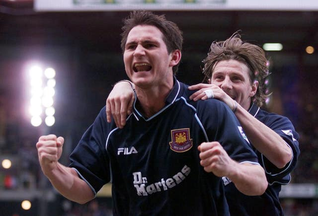Frank Lampard, left, began his career with West Ham