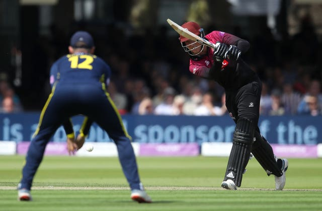 Tom Banton, right, excelled for Somerset last summer