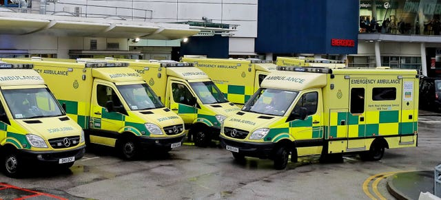 Ambulances outside an A&E