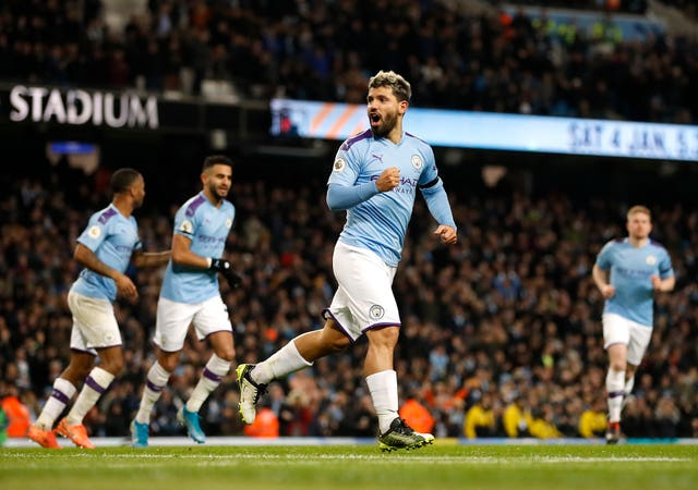 Sergio Aguero was on the scoresheet for the first time since returning from injury