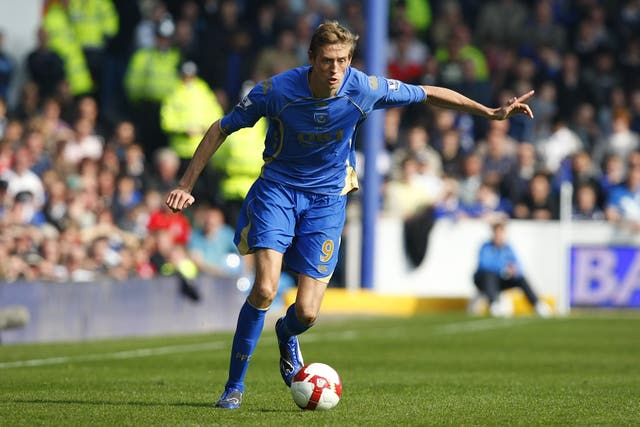 After three seasons at Liverpool, Crouch returned to former club Portsmouth