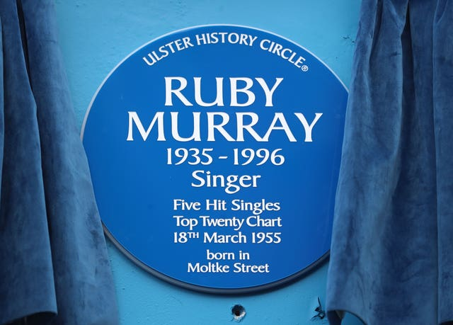 Blue plaque for Ruby Murray
